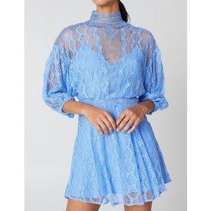 Free People Dresses - Free People Boardwalk Blue Bittersweet Mini Dress